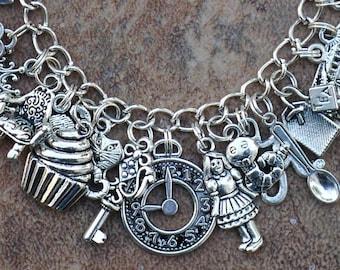 Alice's Adventures in Wonderland - 7 1/2 inch Charm Bracelet