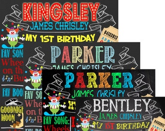 Circus 1st birthday, carnival birthday party decoration ideas, custom circus birthday decor, unique circus birthday bright ID# BRDCIR01
