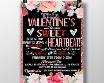 Valentines day baby shower invitations, valentines shower ideas, valentine baby shower decor, vday shower invites, valentines baby shower