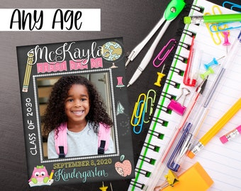 First Day of School Photo Prop, Strike A Post Back To School Frame Sign, 1st Day of School Photo Frame Sign, Back To School Prop for Teacher