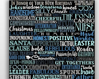 80 Years Old Born In 1939 Reasons We Love You Emotional 80th Gift Loving Birthday For Her Him Eighty