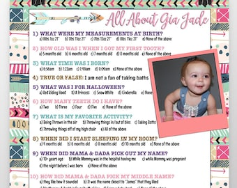 1st birthday games, first birthday party game ideas, 1st birthday facts, 1st birthday trivia about birthday girl/boy add a photo!