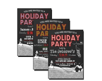 Naughty Or Nice Christmas Party Invitations Naughty Or Nice Etsy
