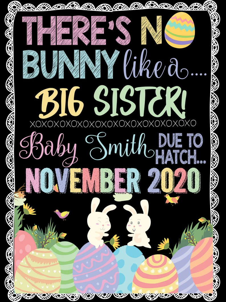 Somebunny is eggspecting Easter Pregnancy Announcement Sign We/'re Eggspecting Somebunny Pregnancy Announcement Cute Easter Announcement