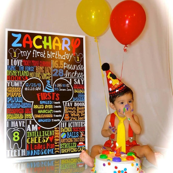 Mickey Mouse 1st Birthday Mickey Mouse Birthday Idea First Etsy