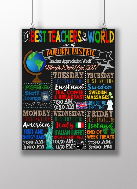 best teachers in the world theme teacher appreciation week etsy