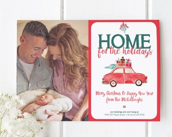 New Home Christmas Card, Moving Christmas Card, Moving Announcement Holiday Card, Home for the Holidays Photo Card, Photo Christmas Card