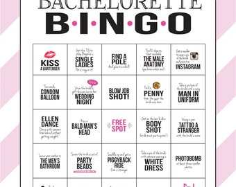 Bachelorette Party Game INSTANT DOWNLOAD Printable | Etsy