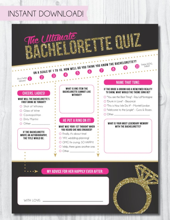 photo about Printable Bachelorette Party Games named Bachelorette Bash Quiz Instantaneous Obtain! Printable Bachelorette Bash Video game: The Greatest Bachelorette Quiz, Bachelorette Get together Online games
