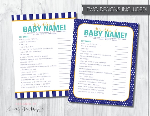 baby name game it s also a baby name baby boy etsy