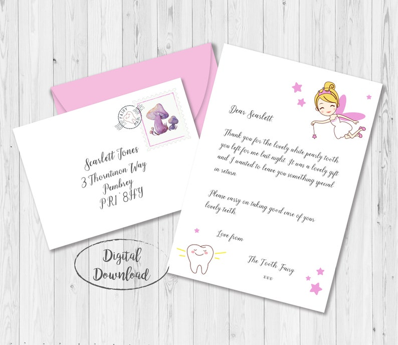 photograph relating to Free Printable Tooth Fairy Letter and Envelope called Miniature Teeth Fairy Letter and Envelope, Little Enamel Fairy Letter, Enamel Fairy Certification, Enamel Fairy Printable, Enamel Fairy