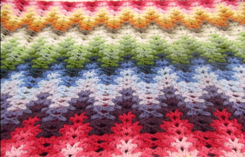 Tall Ripple Stitch Crochet Pattern Etsy