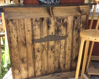 Rustic Handmade Reclaimed Wood Bar Indoor Outdoor