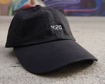 4 20 Dad Hat Cap Unstructured Adjustable W  Brass Closure Marijuana Weed  Joint Smoke Cannabis Grass Medical 420   Free Domestic Shipping   954968f7088a