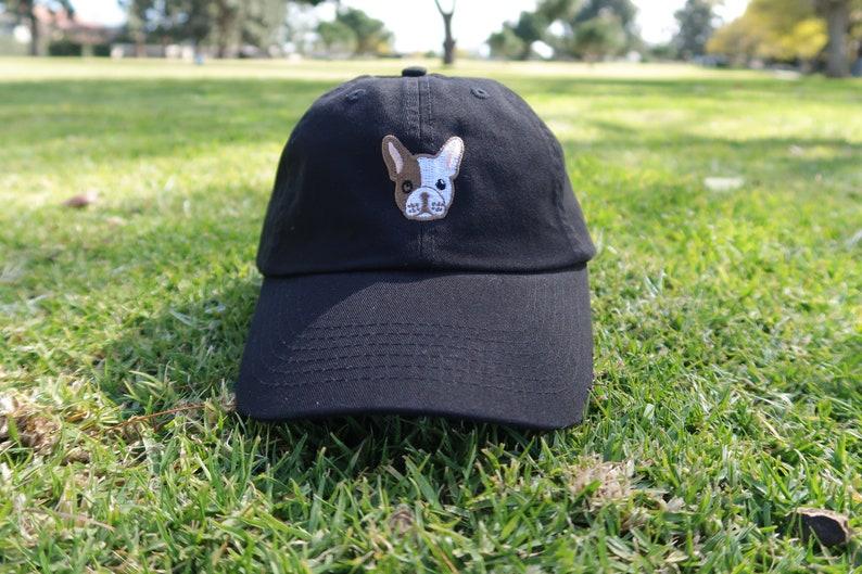6a0bc5f4cdbc6 French Bulldog Dad Hat Low Profile Cap Free Domestic