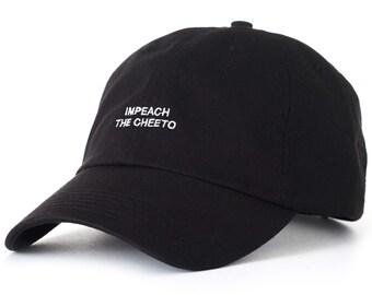 Black Dad Cap Impeach The Cheeto Low Profile Hat Anti-Trump Barack Obama **Free Domestic Shipping**