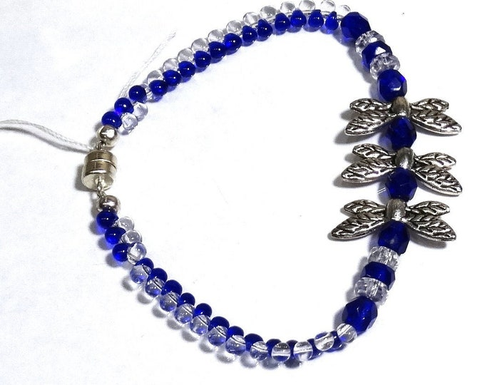 Original Dragonfly Bracelet – Blue and Clear