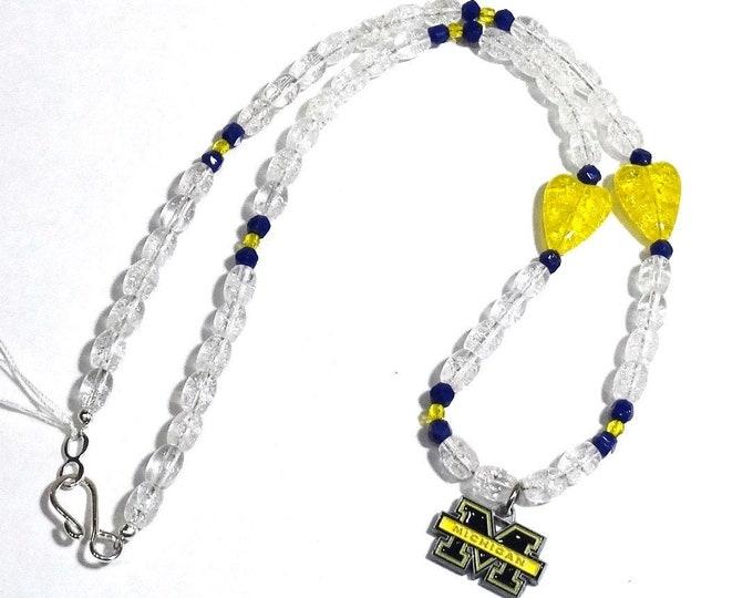 University of Michigan Necklace