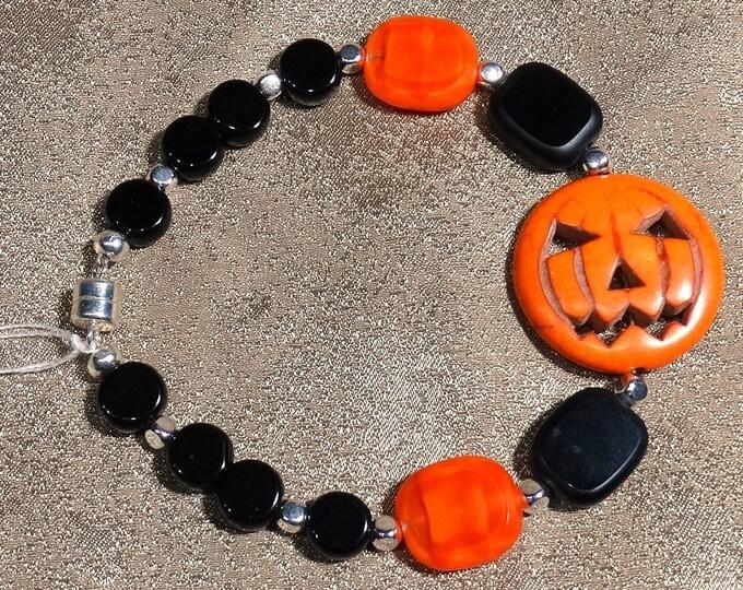 Stone Pumpkin Bracelet