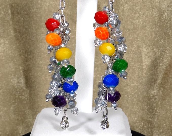 Spiral Pride  Chandelier Earrings