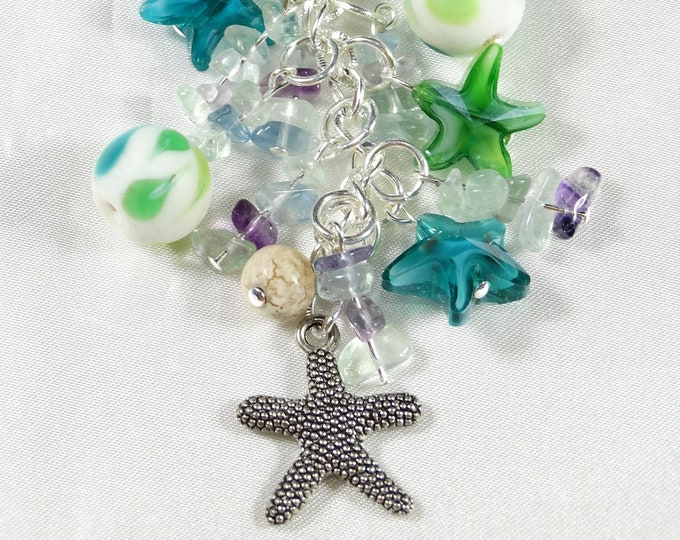 Starfish Charm Chain Keychain