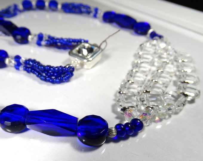 Crystal Squared Tiered Necklace