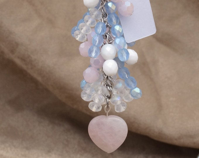 Trans Pride and Heart Charm Chain