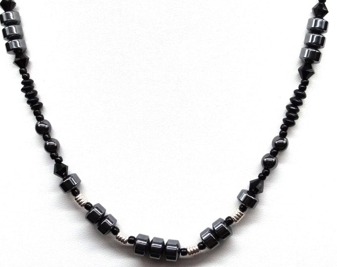 Hematite and Sterling Silver Necklace