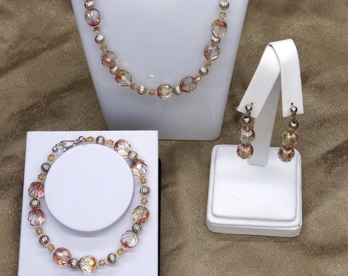 Champagne Dreams Necklace, Bracelet and Earrings Set