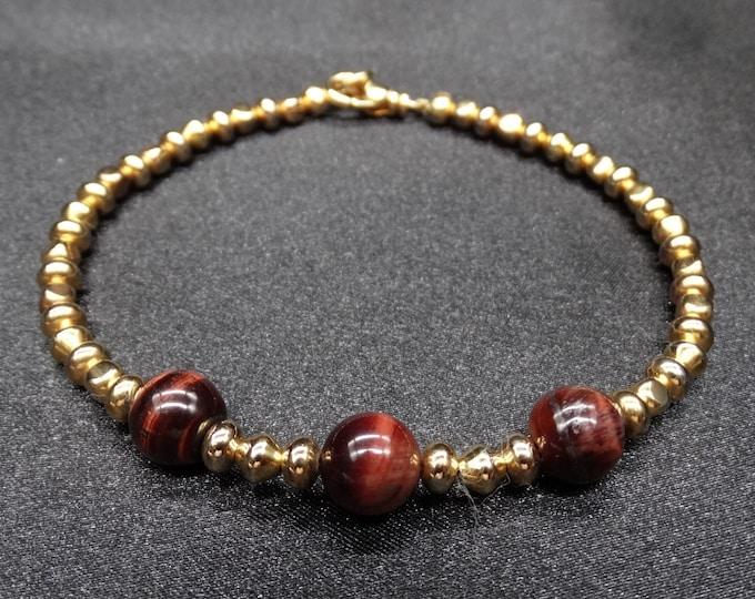 Golden Red Tigers Eye Bracelet