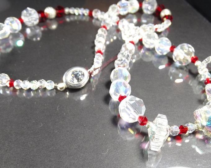 Snowflakes and Ice Swarovski Crystal Necklace