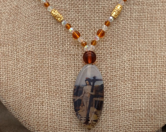 Vintage Christ Necklace