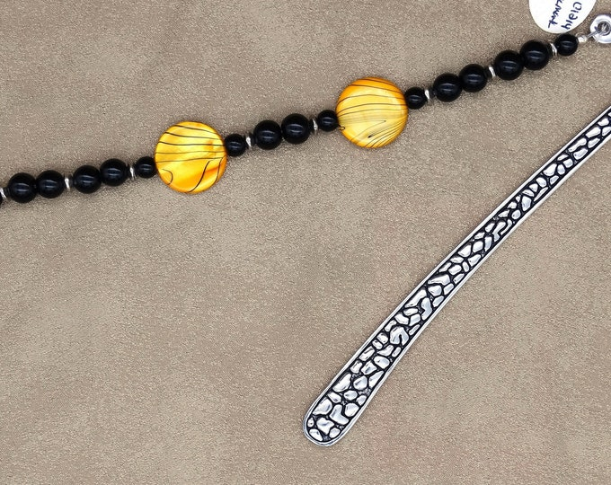 Striped Shell Yellow Bookmark