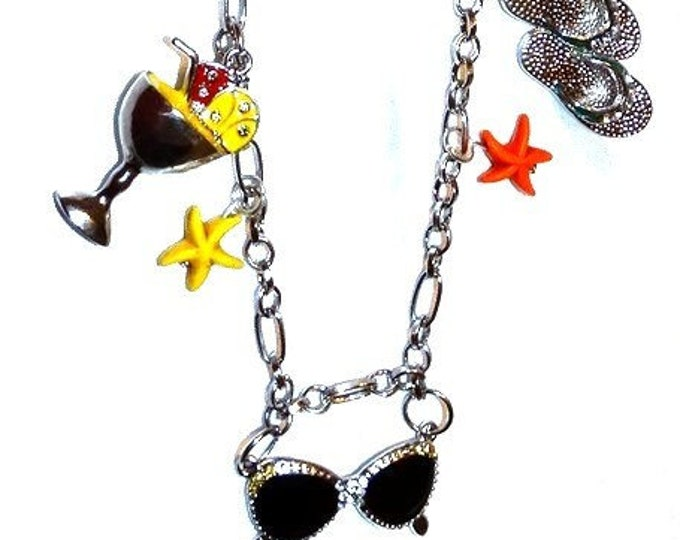 Summertime Fun Charm Necklace