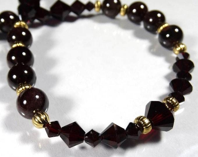 Golden Garnet Necklace
