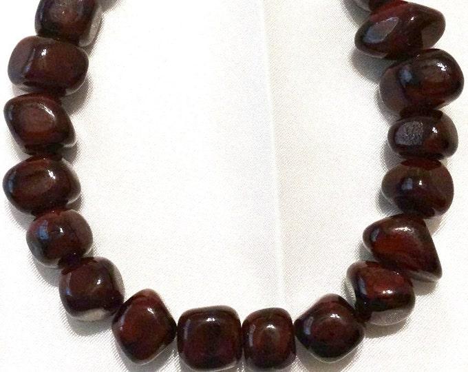 Cherry Wood Glass Bracelet