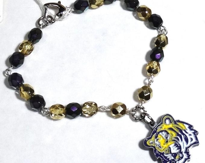 LSU Tigers Beaded Links Bracelet