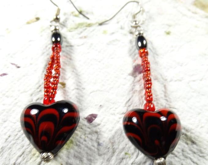 Heart Fire Earrings