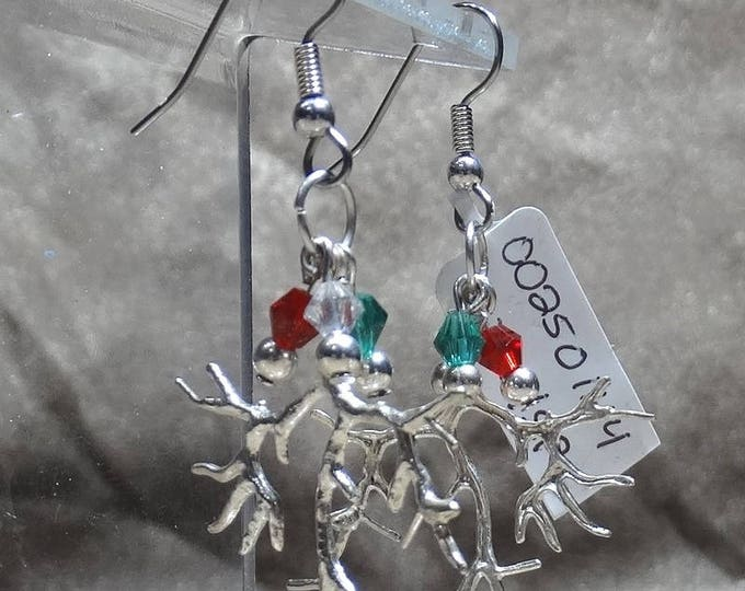 Tree Branch Christmas Earrings