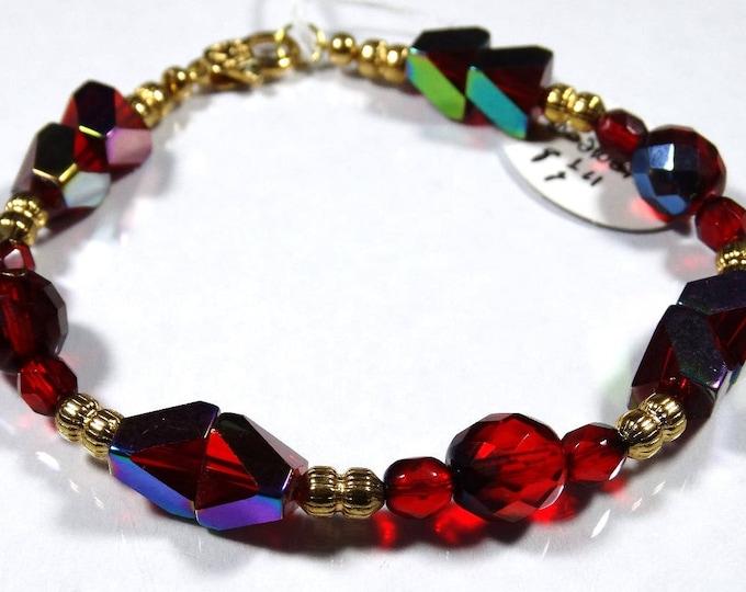 Red Pyramid Bracelet