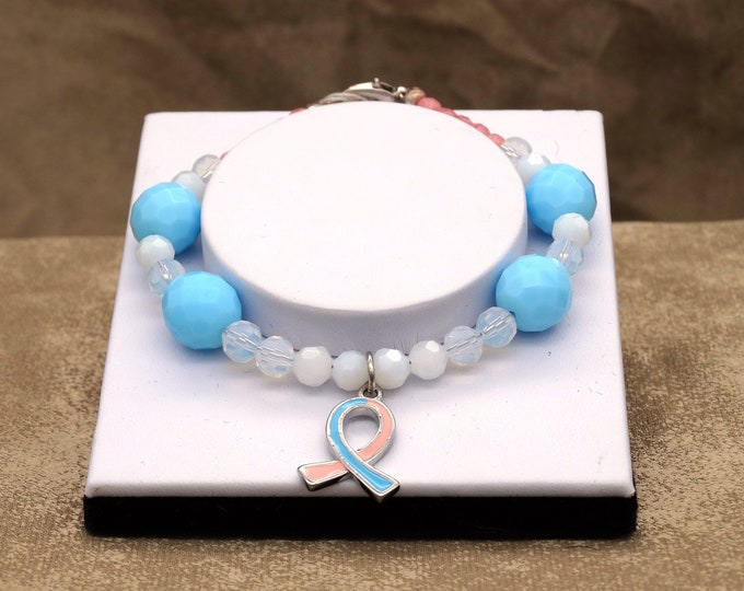Loss Awareness - Pink and Light Blue Ribbon
