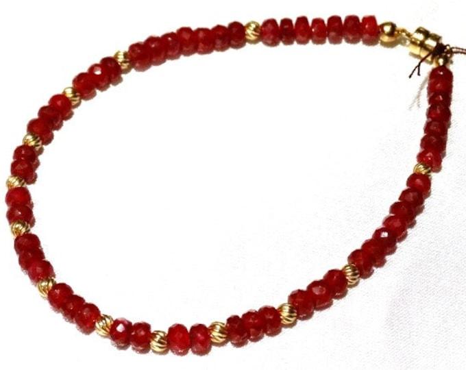 Ruby and 14k Gold Bracelet
