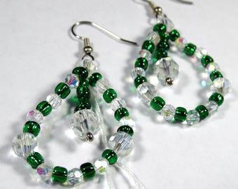 Emerald Isle Swarovski Crystal and Czech Glass Earrings
