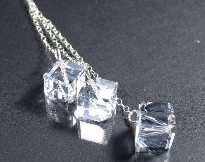 Swarovski Crystal Ice Cube Dangle Earrings