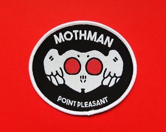 Mothman Iron On Patch