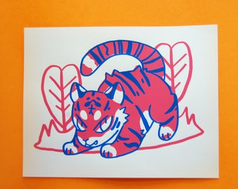 Tiger Art Screen Print