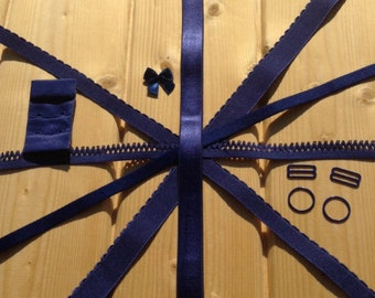 Navyblue Findings Kits for Bra patterns