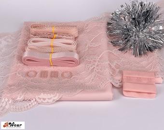Pink Bra-making Kits for most bra patterns