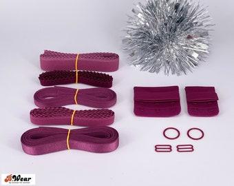 Black Cherry Findings Kits for Bra patterns