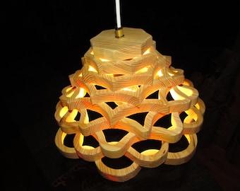 beautiful hanging lamp - Scandinavian - wood lamp - ceiling lamp